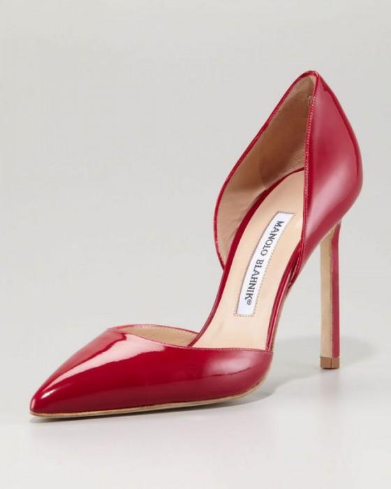 scarpe pelle tayler d'orsay Manolo Blahnik