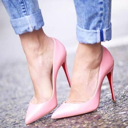 scarpe christian louboutin rosa