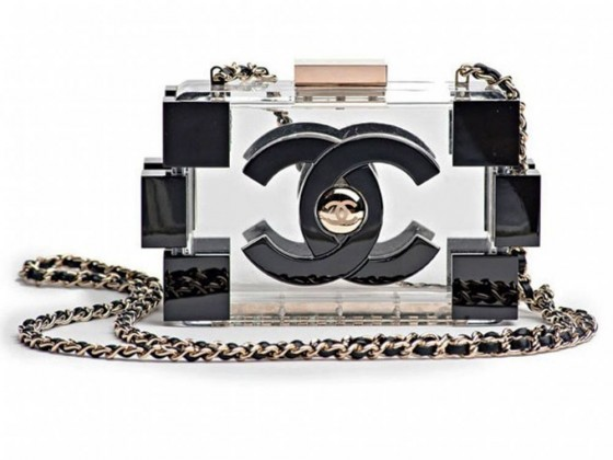 Chanel lego clutch fashion trasparenta