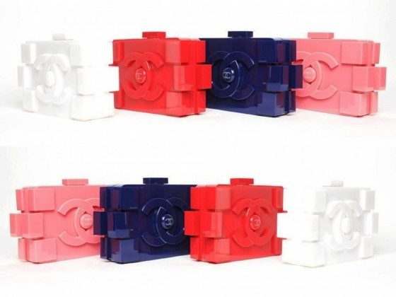 chanel fashion lego clutch colorate