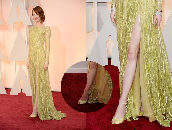 emma stone oscars red carpet 2015