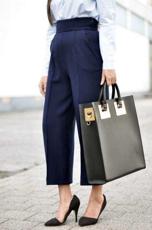 i must moda estate 2015 pantaloni culottes neri