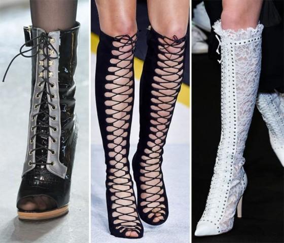 Stivali per l'autunno stringati