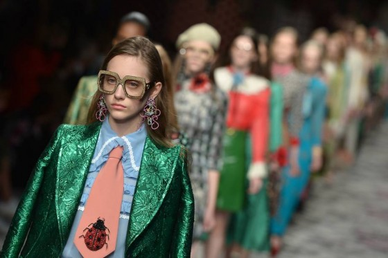 Milano fashion week gucci full colors