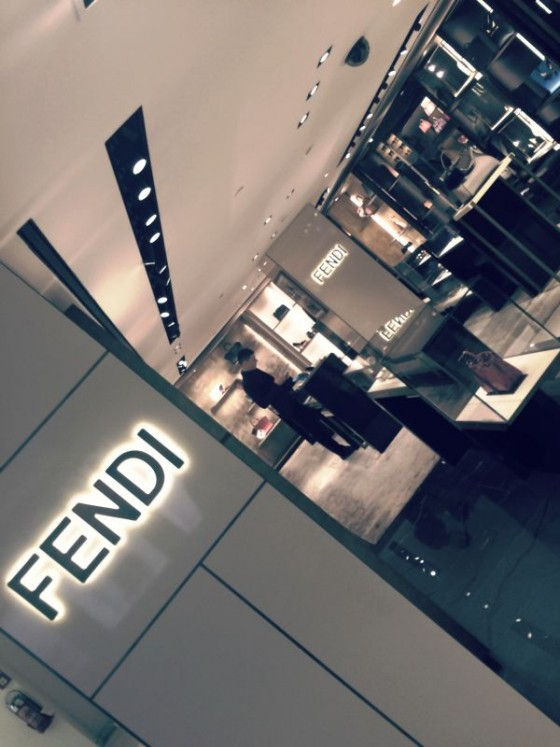 Fendi alla Vogue fashion night out