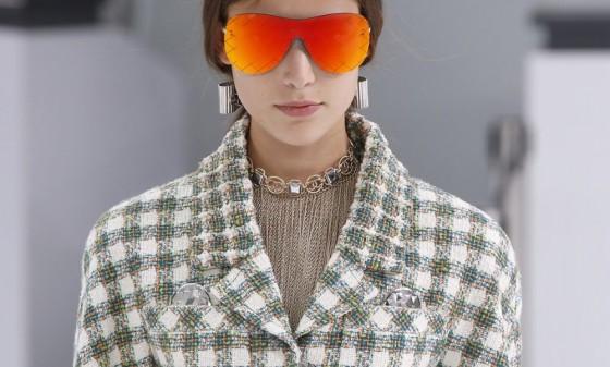 chanel occhiali aviator specchio