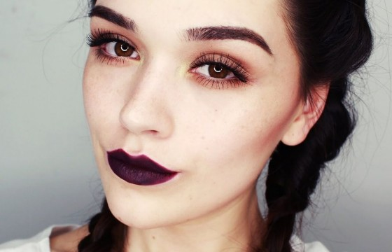 make-up dark gothic chic