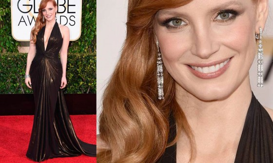 GoldenGlobes_2015 Jessica Chastain's
