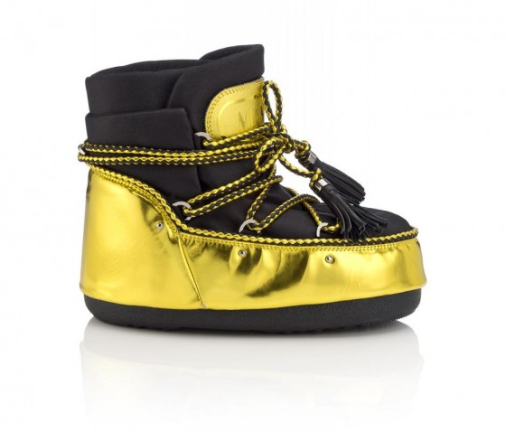 jimmy choo moon boot capsule look sulla neve