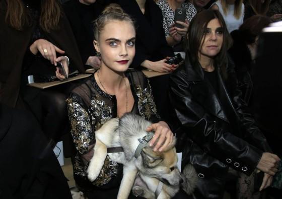 cara delevigne cane haute couture printemp chanel