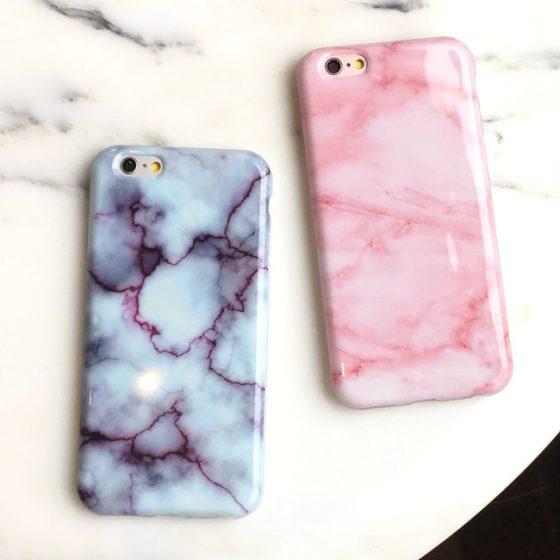 phone case marmo rosa e viola