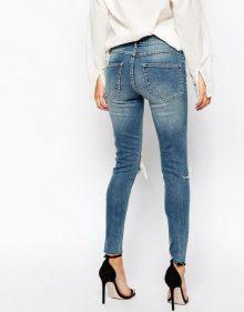 skinny jeans con vita alta