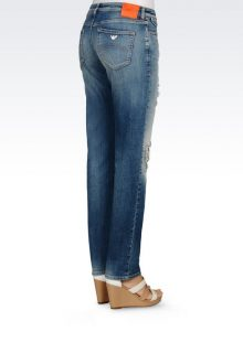 jeans slim con zeppe