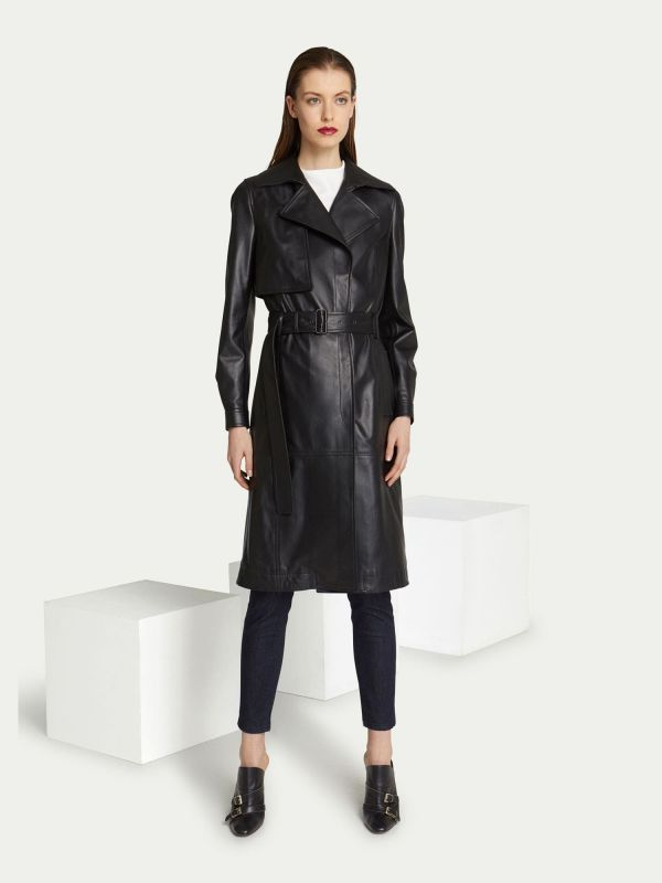 Leather trench Trussardi