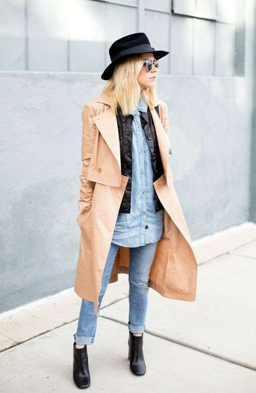 Look denim e trench