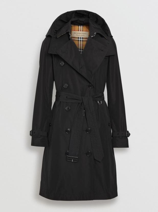 Taffeta Burberry trench