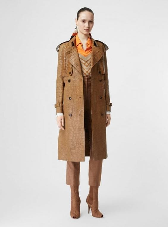 Trench coat alligatore Burberry